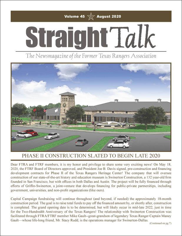 Former Texas Rangers Association Newsletter - StarightTalk